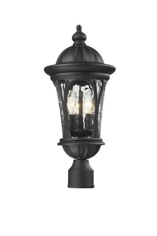 Z-Lite 543PHM-BK Outdoor Post Light - llightsdaddy - Z-Lite - Post Lights