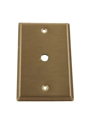 Leviton 84061-40 1-Gang .406 Inch Hole Device Telephone/Cable Wallplate, Standard Size, Box Mount, Stainless Steel - llightsdaddy - Leviton - Wall Plates