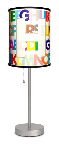 Monograms - Modern Letter H Sport Silver Lamp - llightsdaddy - Lamp-In-A-Box - Lamp Shades