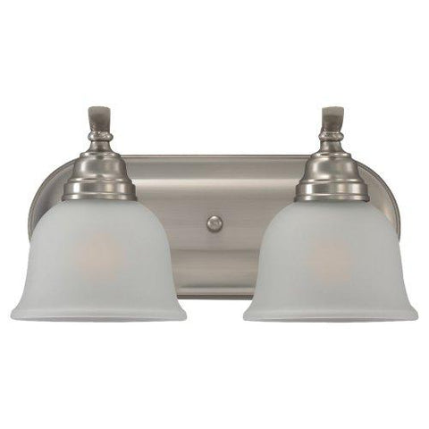 Sea Gull Lighting 44626-962 Bath Vanity with Satin EtchedGlass Shades, Brushed Nickel Finish - llightsdaddy - Sea Gull Lighting - Vanity Lights