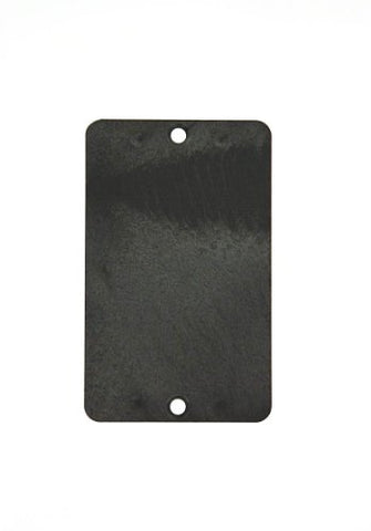 Leviton 3054-E Coverplate, Standard Single-Gang, Thermoplastic, Blank, Black