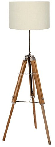 Designer's Shiny Finish Tripod Floor Lamp Stand By Nauticalmart - llightsdaddy - NAUTICALMART - Lamp Shades