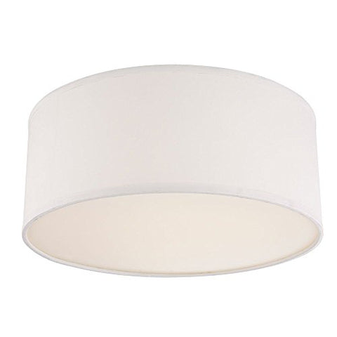 Drum Ceiling Trim for Recessed Lights with White Shade