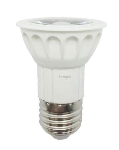 Anyray LED JDR Light Bulb Dimmable 120V - Warm White 5W=(50W Halogen Replacement) E26 / E27 Medium Base 130V
