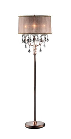 Ore International K-5126F 62-Inch Rosie Crystal Floor Lamp
