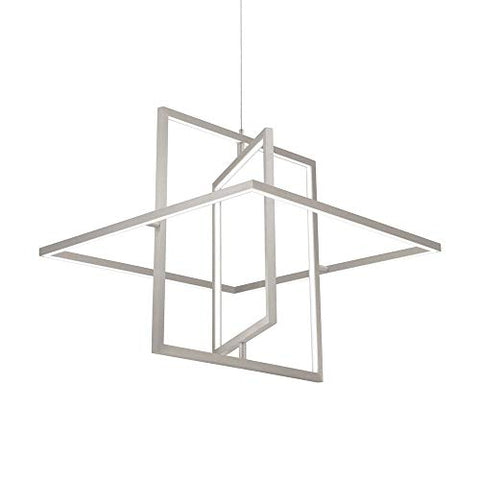 Mondrian Down Pendant in Brushed Nickel