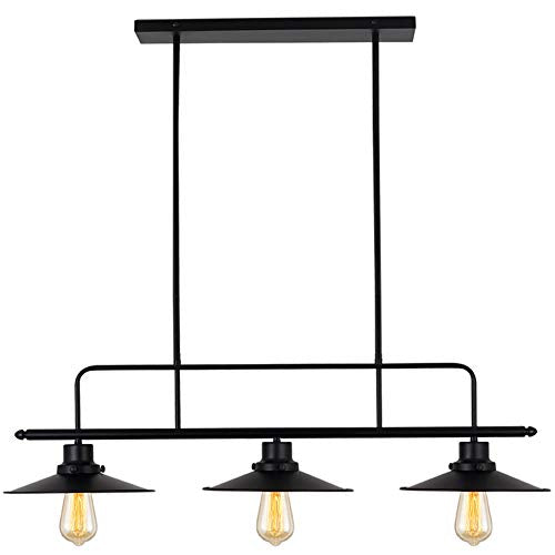 Amazing Lampundit Industrial 3 Light Island Lighting Height Adjustable Kitchen Island Light Fixture For Dining Room Chandelier Pool Table Light Black Download Free Architecture Designs Scobabritishbridgeorg