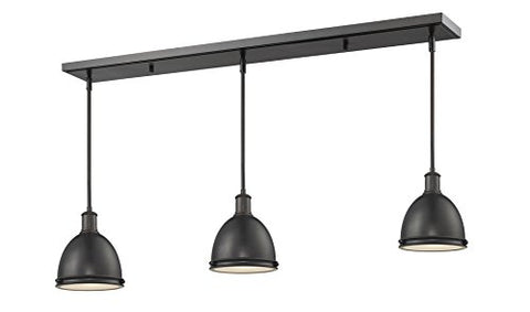 3 Light Island/Billiard Light 708MP-3BRZ - llightsdaddy - Z-Lite - Pendant Lights
