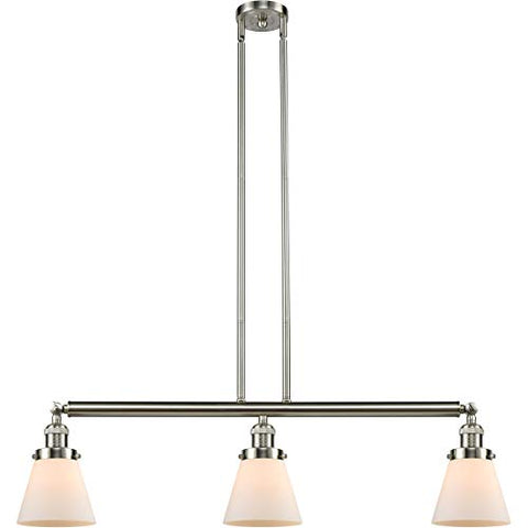 "Island Lighting 3 Light Fixtures with Brushed Satin Nickel Finish Cast Brass Glass Material Medium 39"" 300 Watts - llightsdaddy - World of LifeStyle - Island Lights"