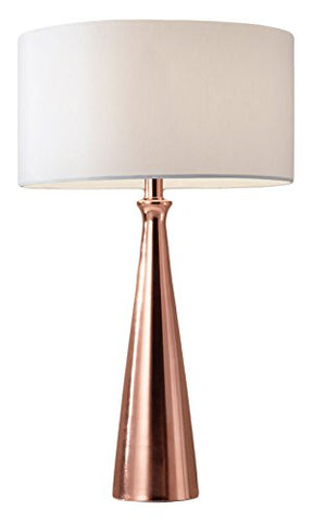 "adesso 1517-20 linda 21.5"" table lamp, copper, smart outlet compatible"