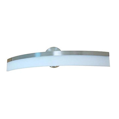 Style Selections Lynnpark 1-Light Brushed Nickel Integrated LED Vanity Light Bar, 5.64-in H