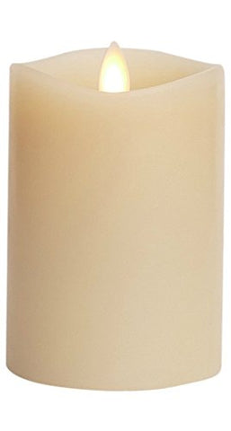"Luminara Flameless Candle: 360 Degree Top, Vanilla Scented Moving Flame Candle with Timer (4"" Ivory) - llightsdaddy - Luminara - Flameless Candles"