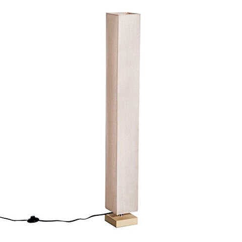 "HomCom 48"" Modern Free Standing Rectangle Floor Lamp with Linen Shade - Beige - llightsdaddy - HOMCOM - Floor Lamps"