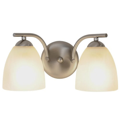 Monument 617632 Contemporary Brushed Nickel Vanity Fixture, 13-5/8 In.