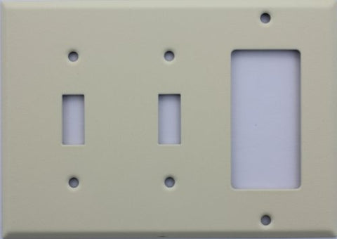 Ivory Wrinkle Three Gang Wall Plate - Two Toggle Switches One GFI/Rocker Opening - llightsdaddy - Classic Accents - Wall Plates