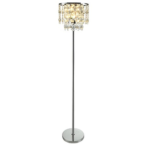 Floor Lamps YXGH Bedroom Post-Modern Luxury Crystal Living Room Simple Modern Vertical Lamp Vertical Light Fixture - llightsdaddy - Floor Lamps - Lamp Shades