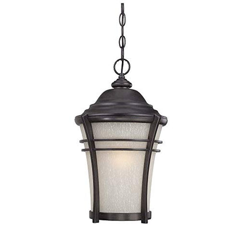 acclaim 39626bc vero collection 1-light outdoor light fixture hanging lantern, black coral