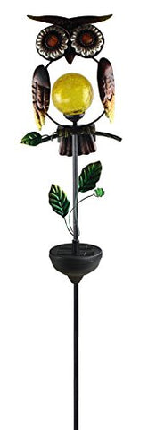 Moonrays 92213 Solar Powered White LED Owl Stake Light