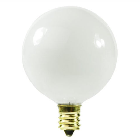 Satco S3830 120V Pear Candelabra Base 10-Watt G12.5 Light Bulb, White - llightsdaddy - Satco - Wall Plates