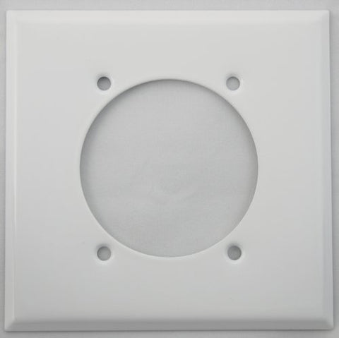 Stamped Steel Smooth White 2 Gang Wall Plate for 1 Electric Range/Dryer Receptical  Classic Accents Lightning Fixtures llightsdaddy.myshopify.com lightsdaddy