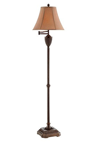 "Stein World 99845 Roderick Resin Floor Lamp, 15"" x 15"" x 61.5"", Bronze - llightsdaddy - Stein World - Lamp Shades"
