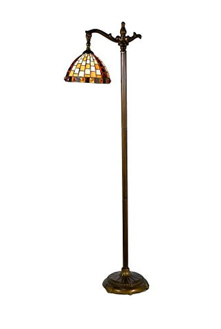 Springdale by Dale Tiffany STF17114 Graham Directional Down Bridge Floor Lamp - llightsdaddy - Springdale by Dale Tiffany - Lamp Shades