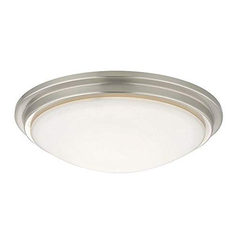 Low Profile Decorative Recessed Light Ceiling Trim with White Glass - llightsdaddy - Dolan Designs - Ceiling Lights