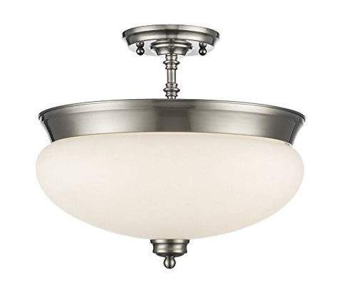 3 Light Semi Flush Mount 721SF-BN - llightsdaddy - Z-Lite - Flush mounts