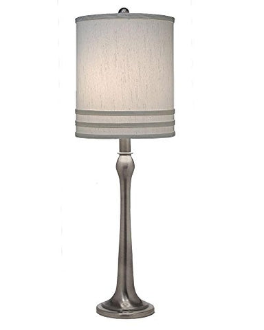 Stiffel TL-A848-AN One Light Table Lamp, Antique Nickel Finish with Global White Shade - llightsdaddy - Stiffel - Table Lamp