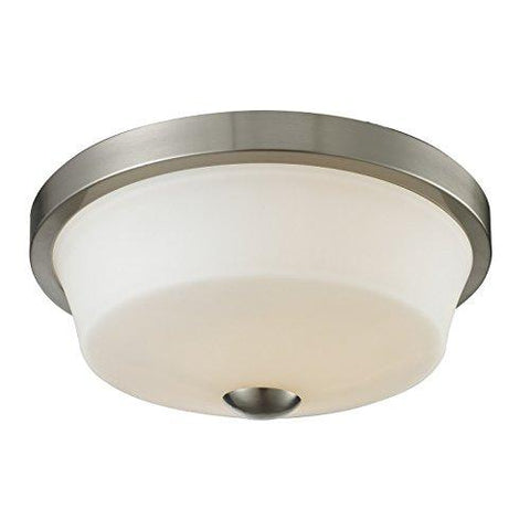 Z-Lite 410F2 2 Light Flush Mount, Brushed Nickel - llightsdaddy - Z-Lite - Under-Cabinet Lights