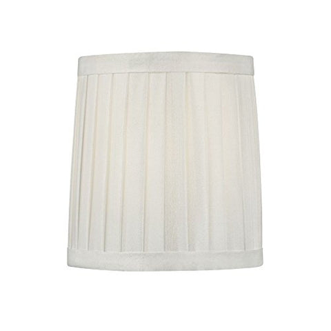 Pleated White Drum Lamp Shade with Clip-On Assembly - llightsdaddy - Design Classics - Lamp Shades