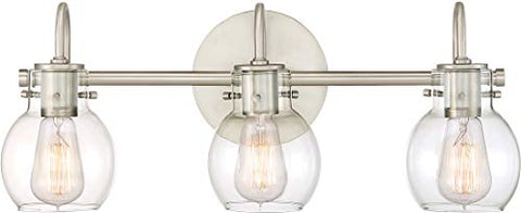 QUOIZEL ANDREWS WALL PARENT (3-Light, Antique Nickel)
