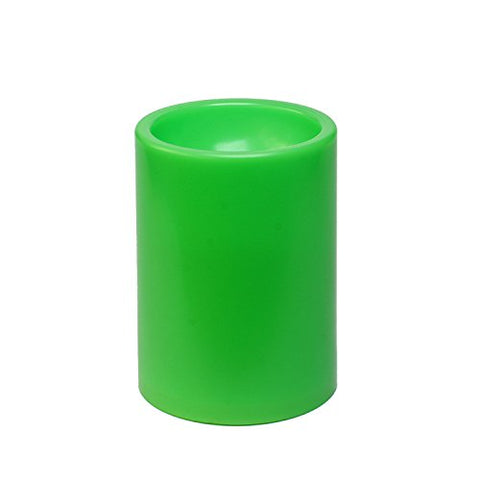 GiveU Garden Pillar Christmas Green Outdoor Led Plastic Candle With Timer, 3x4, - llightsdaddy - DFL - Flameless Candles