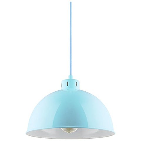 Sunlite CF/PD/S/BB Sona Residential Ceiling Pendant Light Fixtures with Medium (E26) Base, Baby Blue
