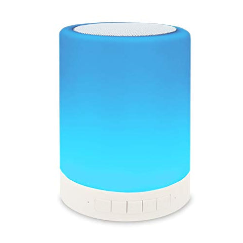 ZHOPPY Night Light Bluetooth Speakers, Touch Control Bedside Lamp Portable Table Lamp Color LED Outdoor Speaker Light Music Player Birthday Gifts