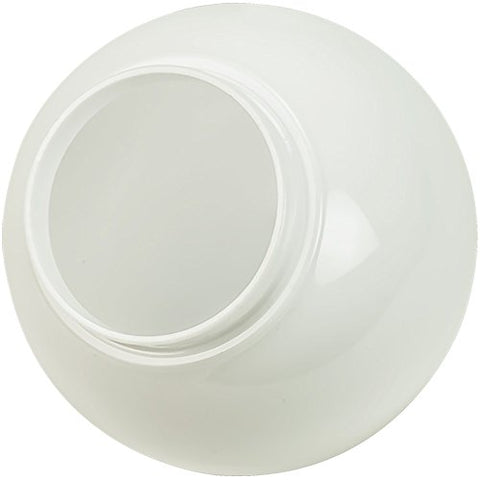 6 in. White Acrylic Globe - 3.25 in. Extruded Neck Opening - American 3201-50650 - llightsdaddy - Hardware & Outdoor - Fixture Replacement Globes & Shades