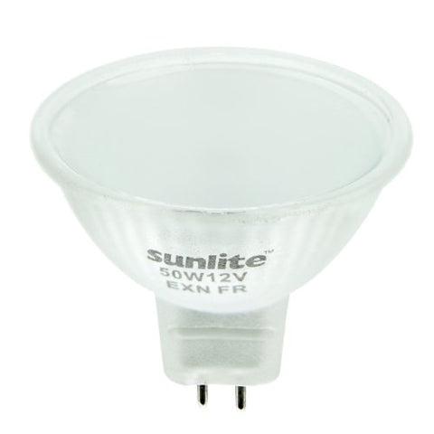 Sunlite 50MR16/FR/FL/12V 50-Watt Halogen MR16 GU5.3 Based Mini Reflector Bulb, Frost - llightsdaddy - Sunlite - Wall Plates
