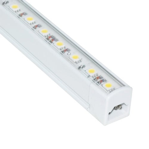 "Jesco Lighting S401-48/60 LED Sleek Plus 48"" Linkable Cove Display Light Strip, 6000K Color, White Finish, No Switch"