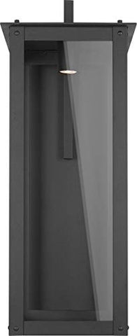 Capital 934642BK-GL Hunt Outdoor Wall Sconce, 1-Light LED 7 Watts, Black
