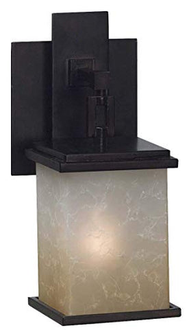Kenroy Home 3372 Plateau 1-Light Sconce, Oil Rubbed Bronze