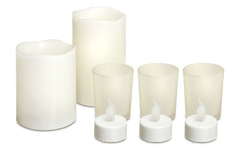 Generic LCS-12/2379 8-Piece LED Candle Set Safely Illuminate Your Home