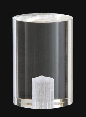 B&P Lamp Large Clear Acrylic Cylinder Finial - llightsdaddy - B&P Lamp - Fixture Replacement Globes & Shades