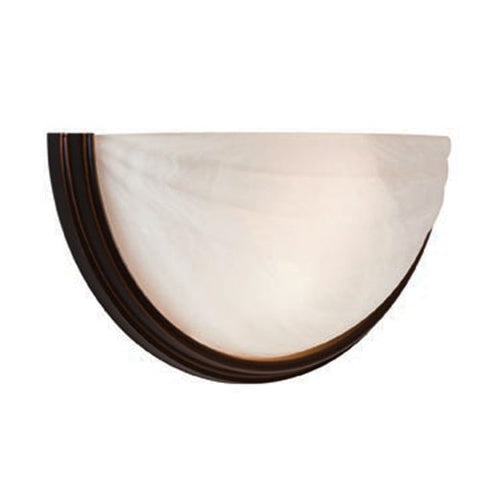 Crest  - 2-Light Wall Sconce - Oil Rubbed Bronze Finish - Alabaster Glass Shade