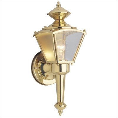 Exterior Wall Lantern in Polished Solid Brass [Set of 2] - llightsdaddy - Westinghouse Lighting - Outdoor Porch & Patio Lights