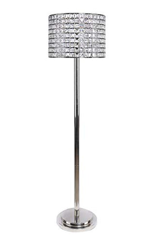 "Grandview Gallery 58"" Floor Lamp, Polished Nickel Body, Genuine Crystal Bead Shade - llightsdaddy - Grandview Gallery - Lamp Shades"