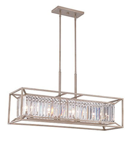 Designers Fountain 87438-AP Linares 4 Light Linear Chandelier