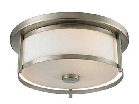 Z-Lite 412F14 2 Light Flush Mount, Brushed Nickel - llightsdaddy - Z-Lite - Under-Cabinet Lights
