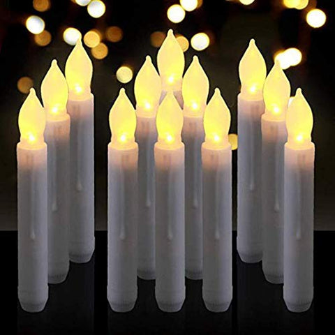 Battery Operated Flameless LED Pillar Candle,Realistic Warm White Flickering Timer Taper Candle,Flameless LED Taper Window Candle for Halloween,Christmas, Party, Wedding,Table Dinning,Home Decor - llightsdaddy - FASTIC - Flameless Candles