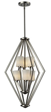 6 Light Foyer Pendant 609-6-BN