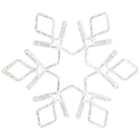 basics Led Holiday Light, Decorative Motif For Christmas, Frosted Snowflake